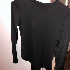 Tops - BASIC LONG SLEEVE BLACK SHIRT - SIZE S